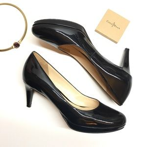 Cole Haan Chelsea Low Pump Black Patent heel 9B